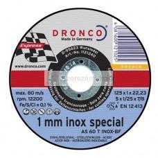 Vágókorong DRONCO Inox Special 125x1,0x22 INOX